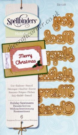 Holiday Sentiments Spellbinders Die S2-118